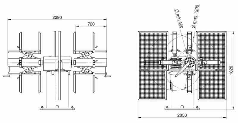 Rozwijak DRB 3T-650 schemat